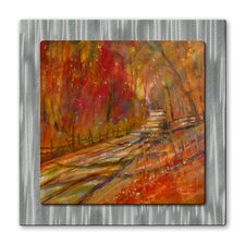 <strong>All My Walls</strong> Autumn Road Metal Wall Hanging