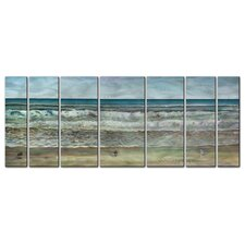 Seashore Panorama Metal Wall Art