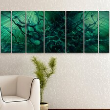 <strong>All My Walls</strong> Ocean Depth Metal Wall Art