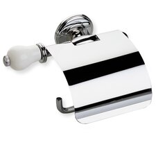 <strong>Stilhaus by Nameeks</strong> Nemi Wall Mounted Toilet Roll Holder with Cover and End Cap in Chrome/White