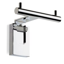 Quid Wall Mounted Double Robe Hook in Chrome