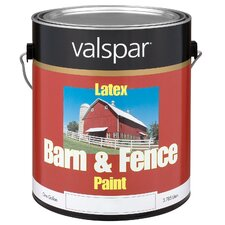 <strong>Valspar</strong> 1 Gallon White Exterior Barn & Fence Latex Paint