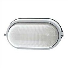 <strong>LBL Lighting</strong> Large Oval Aluminum Outdoor Bulk Head Wall/Ceiling Mounted Lantern