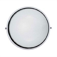 <strong>LBL Lighting</strong> Large Round Aluminum Bulkhead Wall/Ceiling Mounted Lamp