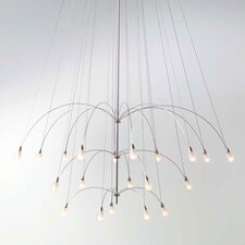 <strong>LBL Lighting</strong> TwiLight Glass Teardrop 20 Light Chandelier