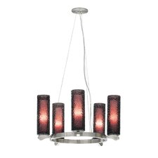 Rock Candy 5 Light Candle Chandelier