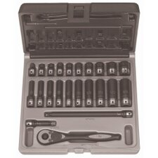 "<strong>Grey Pneumatic</strong> 1/4"""" Dr. 23Pc Fract. Std & Deep Duo-Socket Set - 6"