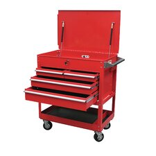 "27.6"" Wide 4 Drawer with Locking Top Service Cart"