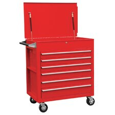 "Premium Full 27.6"" Wide 6 Drawer Service Cart"