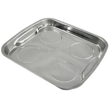 Parts Dish Magnetic 11-1/2X11In. Stainless Steel