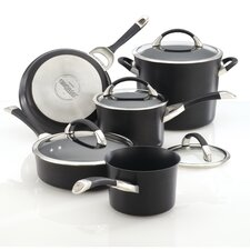 <strong>Circulon</strong> Symmetry Hard Anodized Nonstick 11 Piece Cookware and Bakeware Set