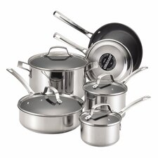 Genesis 10 Piece Stainless Steel Cookware Set