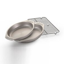 <strong>Circulon</strong> 25th Anniversary 3 Piece Round Bakeware Set