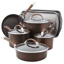 Symmetry Hard Anodized Nonstick 11 Piece Cookware and Bakeware Set