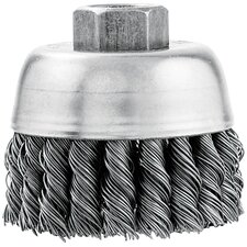 "3"" Knotted Wire Industrial Cup Brush  16830VA"