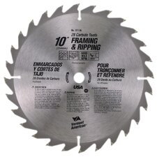 "10"" 28 TPI Fast-Cut Rip Carbide Circular Saw Blades 27176"
