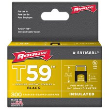 "1/4"" X 1/4"" Black T59 Staples 591168BL"