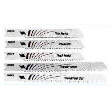 5 Piece Set Assorted Bi-Metal U-Shank Jig Saw Blades 30084