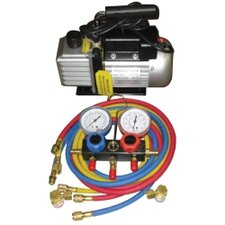 Vacuum Pump And Gauge Set