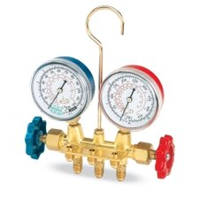 R12 Brass Manifold Gauge Set