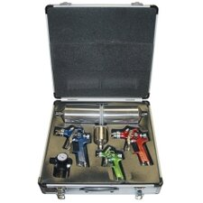 4 Pc Hvlp Spray Gun Kit W/Aluminum Case