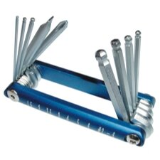 Ball Hex Key Set Metric Blue