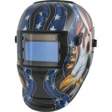 Solar Powered Auto Darkening Welding Helmet with American Eagle Graphics