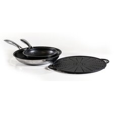 Black Cube™ 3 Piece Frying Pan Set