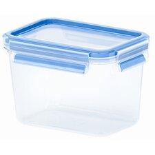 Emsa 3D Food Storage Deep Rectangular 37 fl oz Clip and Close Container