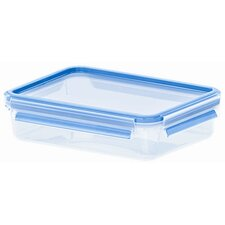 Emsa 3D Food Storage Shallow Rectangular 40.5 fl oz Clip and Close Container