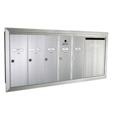 1260  Vertical Unit With Outgoing Mail Slot and Semi - Recessed Collar