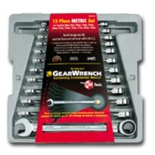 Wrench Ratching Comb. Set Metric 12 Pc Gearwrench