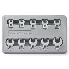 10Pc Metric Crowfoot Wrench Set 10Mm-19Mm