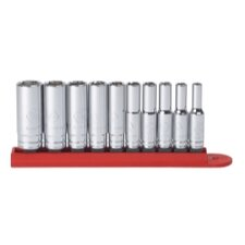 "<strong>KD Tools</strong> 10Pc 1/4"""" Drive 6Pt Deep Sae Socket Set"