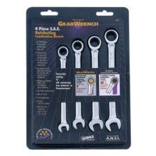Wrench Ratching Comb. Set Metric 4 Pc Gearwrench