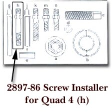 Screw Installer For Quad 4 Letter (H)