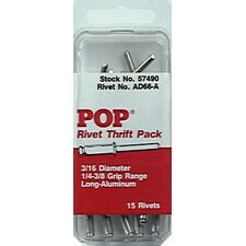 Pop Ad66-Abs 1/4To3/8, 3/16Dia (15Pk)