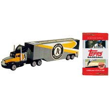 MLB Tractor Trailer with 10 Packs of Trading Cards