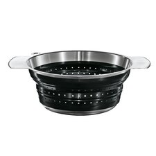 "10"" Foldable Strainer in Black"