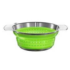"10"" Foldable Strainer in Green"