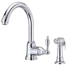 Fairmont Single Handle Centerset Kitchen Faucet with Spray