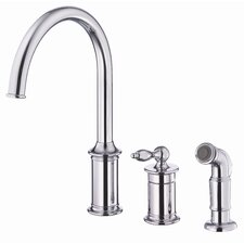 Prince Single Handle Single Hole Kitchen Faucet with Spray