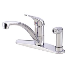 Melrose Single Handle Kitchen Faucet with Spray and Dispenser