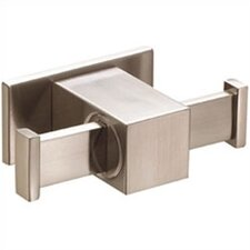 Sirius Double Robe Hook in Brushed Nickel