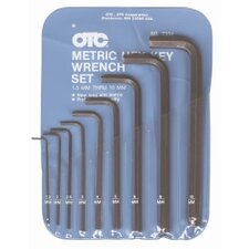 Hex Key Set 9Pc Metric 1.5 To 10Mm