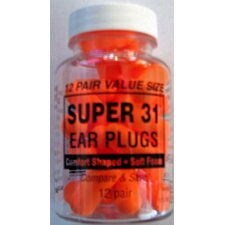 12 Pairs Super 31 Earplugs