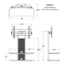 "<strong>Transdeco International</strong> 32"" - 60"" TV Stand"