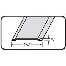 """0.13"""" x 1.75"""" Flat Top Saddle Threshold in Aluminum"""
