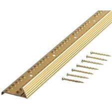 "1.38"" Fluted Carpet Gripper Teeth in Satin Brass"