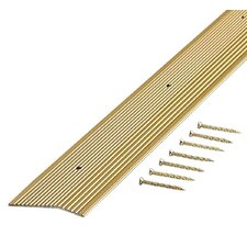 "0.75"" x 2"" Fluted Extra Wide Carpet Trim in Satin Brass"